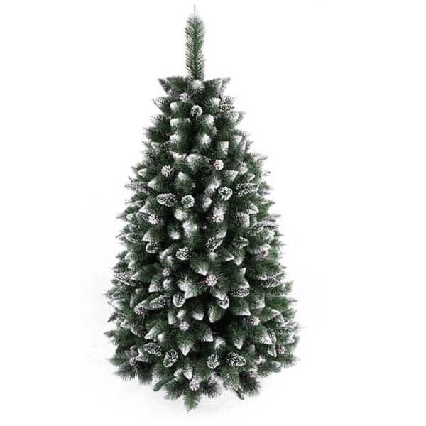 Brad artificial BRAZIDELUX Navara, 220 cm, verde-alb