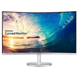 "Monitor curbat LED VA SAMSUNG C27F591FDU, 27"", Full HD, 60Hz, argintiu"