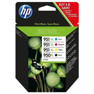 Pachet cu 4 cartuse de cerneala HP 950XL/951XL C2P43AE, negru/color