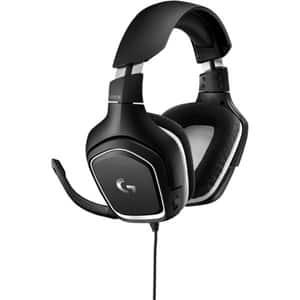 Casti Gaming LOGITECH G332 SE, stereo, multiplatforma, 3.5mm, negru-alb