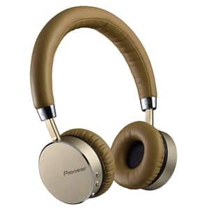 Casti PIONEER SE-MJ561BT-T, Bluetooth, NFC, On-Ear, Microfon, maro