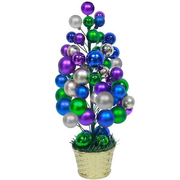 Brad din globuri multicolore Premium BRAZIDELUX, 40 cm, multicolor