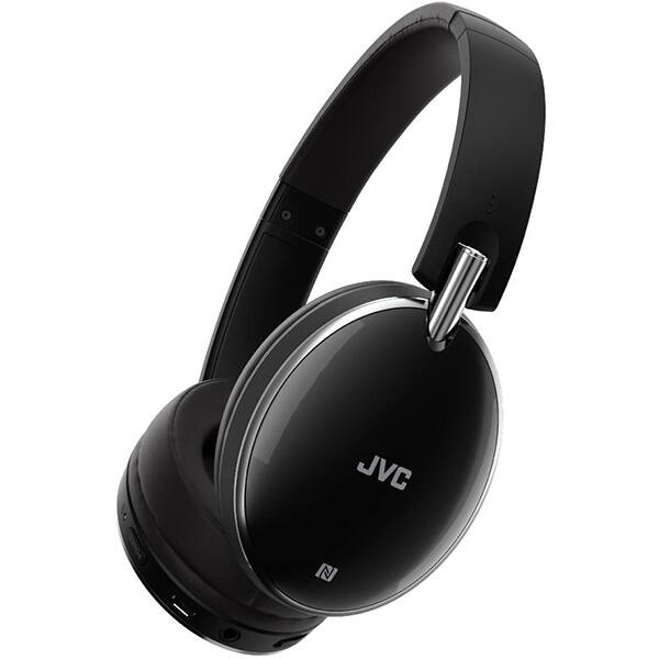 Casti JVC HA-S90BN-B-E, Bluetooth, NFC, Over-Ear, Microfon, Noise Cancelling, negru
