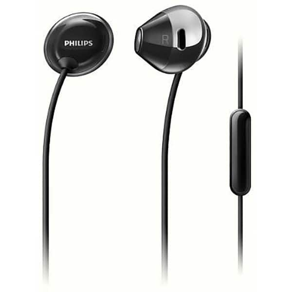 Casti PHILIPS SHE4205BK/00, Cu Fir, In-Ear, Microfon, negru