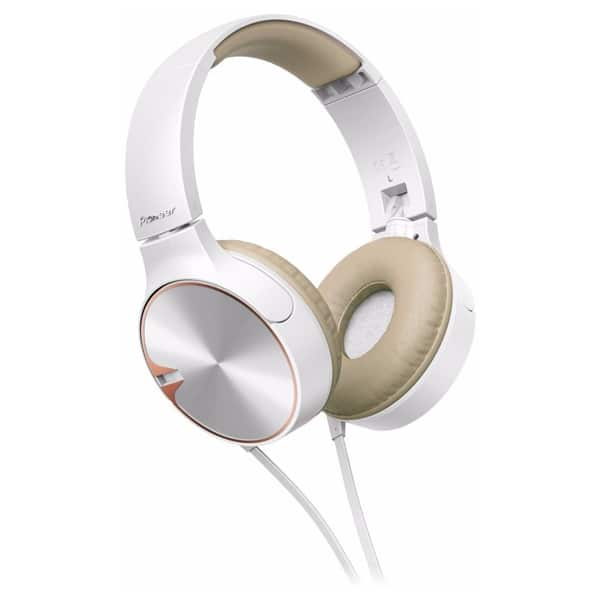 Casti PIONEER SE-MJ722T, Cu Fir, On-Ear, Microfon, alb-maro