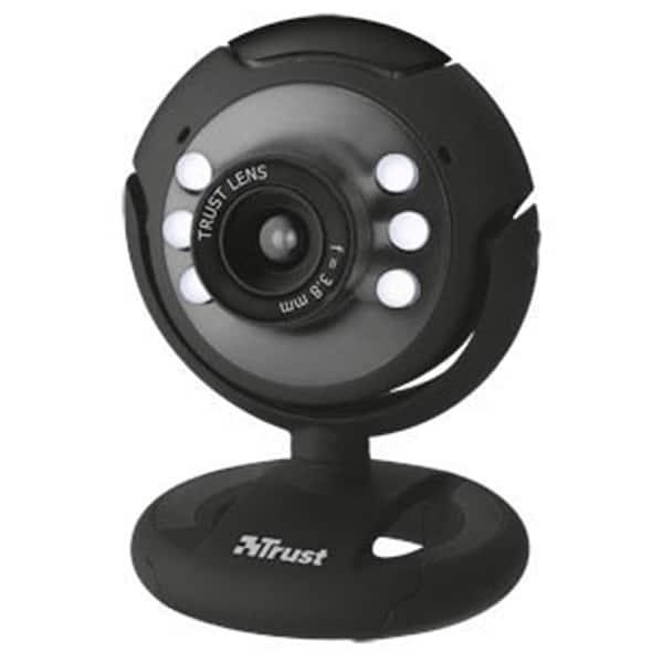 Camera Web TRUST 16429, 640 x 480 pixeli, negru