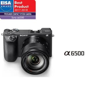 Aparat foto Mirrorless SONY Alpha A6500 Z, 24.2 MP, Wi-Fi, negru + Obiectiv 16-70mm ZA OSS