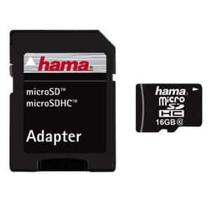 Card de memorie HAMA 108085 microSDHC, 16GB, clasa 10, 22MBs, adaptor