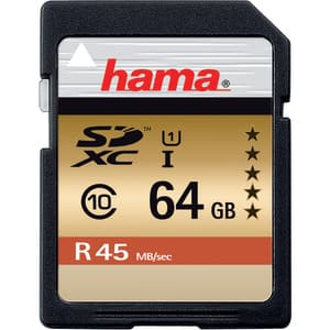 Card de memorie SD XC 64 GB HAMA 114944, R:45 MB/S