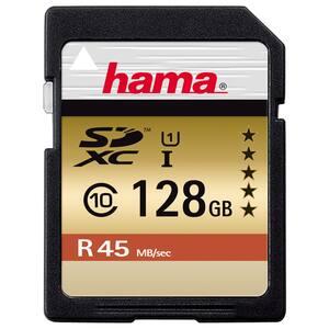 Card de memorie HAMA 114945, SDXC, 128GB, 45 MB/s, clasa 10 UHS-I