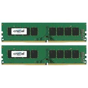 Memorie desktop CRUCIAL, 2x8GB DDR4, 2400MHz, CL17, CT2K8G4DFS824A