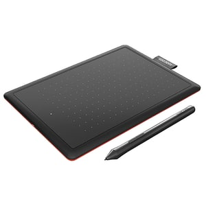 Tableta grafica WACOM One Small CTL-472-S, negru-rosu