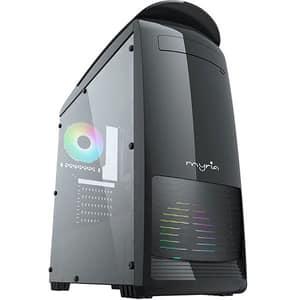 Sistem Desktop Gaming MYRIA Digital V27, Intel Core i5-9400F pana la 4.1GHz, 16GB, SSD 240GB, NVIDIA GeForce GTX 1650 4GB, Ubuntu