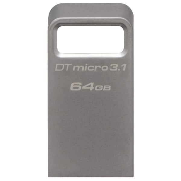 Memorie USB KINGSTON DataTraveler Micro 3.1, 64GB, USB 3.1, argintiu