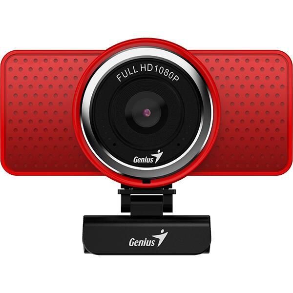 Camera Web GENIUS ECam 8000, Full HD 1080p, rosu