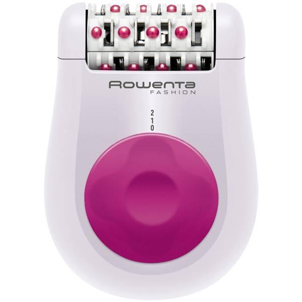 Epilator ROWENTA Fashion EP1030, 24 pensete, 2 viteze, retea, alb-roz