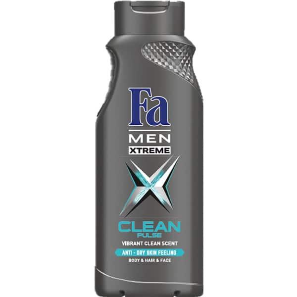 Gel de dus 3 in 1 FA Men Xtreme Clean Pulse, 400ml
