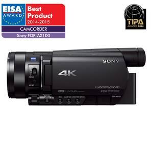 Camera video semi-profesionala SONY HandyCam FDR-AX100E, 4K, Wi-Fi, negru