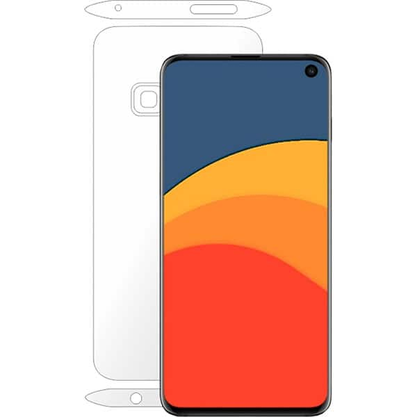 Folie protectie pentru Samsung Galaxy S10e, SMART PROTECTION, spate si laterale, polimer, transparent