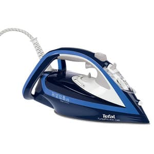 Fier de calcat TEFAL Turbo Pro FV5630E0, 2600W, 200g/min, 300ml, talpa Durilium AirGlide Autoclean, albastru-alb