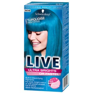 Vopsea de par SCHWARZKOPF Live XXL Ultra Brights, 096 Turquoise, 80ml