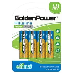 Baterii alcaline GOLDEN POWER Plus, R6(AA), 4 bucati
