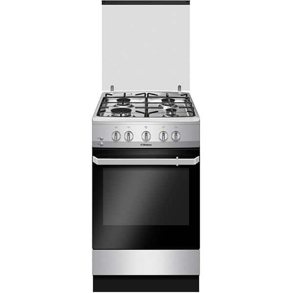 Aragaz HANSA FCGX520209, 4 arzatoare, Gaz, L 50 cm, inox