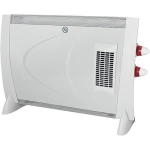 Convector electric de podea HOME FK 190 TURBO, 2 trepte putere, 2000W, Turboventilator integrat, alb