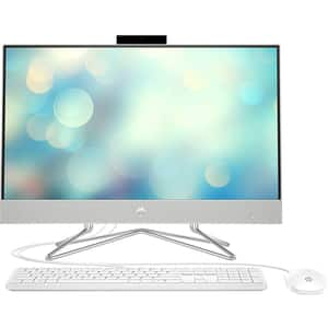 "Sistem PC All in One HP Pavilion 24-dp0000nq, Intel Core i5-1035G1 pana la 3.6GHz, 23.8"" Full HD, 8GB, SSD 256GB, Intel UHD Graphics, Free DOS, alb"
