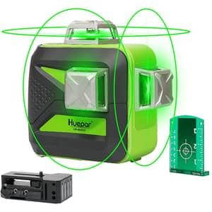 Nivela cu laser HUEPAR 603CG, raza 50m, negru-verde