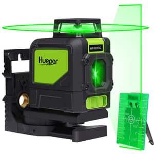 Nivela cu laser HUEPAR 901CG, raza 30m, negru-verde