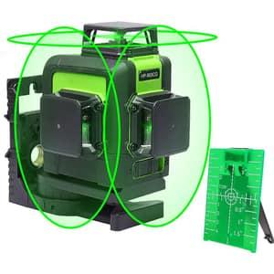 Nivela cu laser HUEPAR 903CG, raza 30m, negru-verde