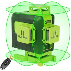 Nivela cu laser HUEPAR 904DG, raza 35m, negru-verde