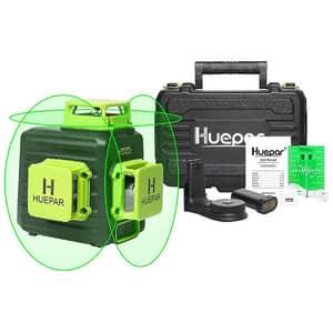Nivela cu laser HUEPAR B03CG, raza 30m, negru-verde