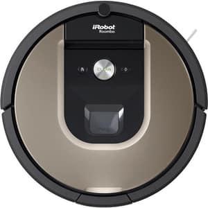 Aspirator robot IROBOT Roomba 966, autonomie max 75 min, Wi-Fi, Navigatie iAdapt, AeroForce, negru-maro