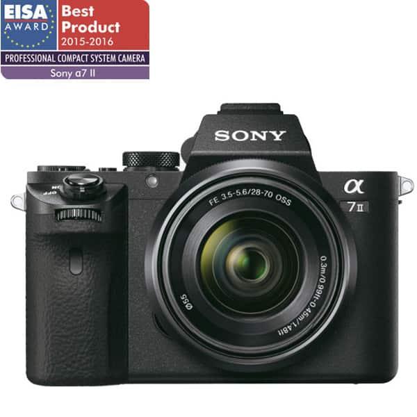 Aparat foto Mirrorless SONY A7 II, 24.3 MP, Wi-Fi, negru + Obiectiv SEL 28-70mm f/3.5-5.6 OSS