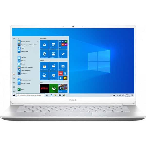 "Laptop DELL Inspiron 5490, Intel Core i5-10210U pana la 4.2GHz, 14"" Full HD, 8GB, SSD 512GB, Intel UHD Graphics, Windows 10 Pro, alb"