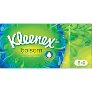 Servetele nazale KLEENEX Balsam, 4 straturi, 8 x 9 buc