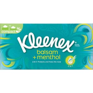 Servetele faciale KLEENEX Balsam Menthol, 3 straturi, 72 buc