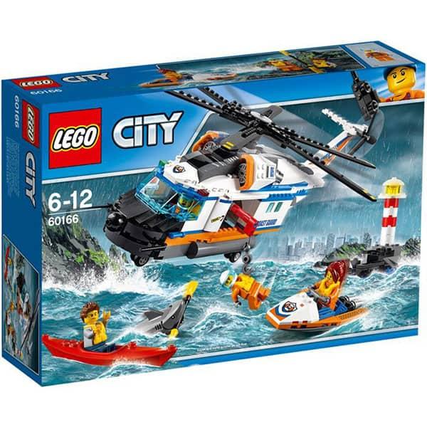 LEGO City: Elicopter de salvare pentru conditii grele 60166, 6 -12 ani, 415 piese