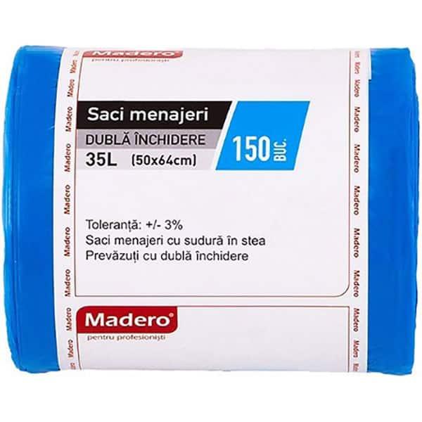 Saci menajeri MADERO 016412, 150 bucati, 35 l, albastru