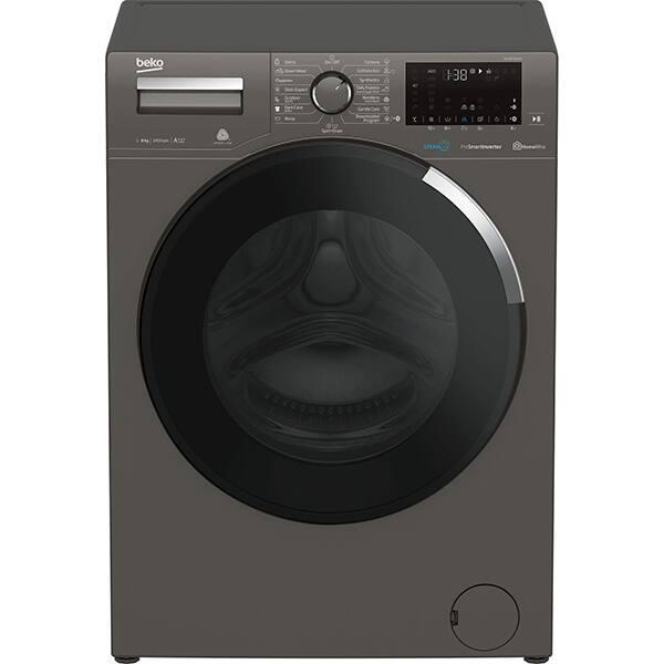 Masina de spalat rufe frontala BEKO WUE8736XCM, HomeWhiz, 8kg, 1400rpm, Clasa A+++, gri inchis