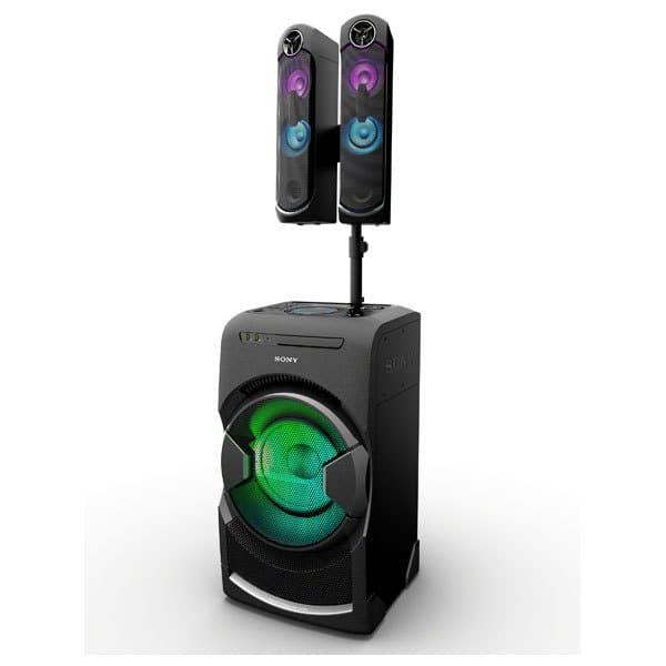 Sistem audio SONY MHC-GT4D, Bluetooth, NFC, USB, CD, DJ Effects, Mega BASS, Party music, iluminare LED, negru