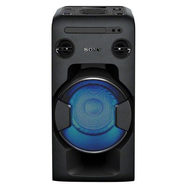 Sistem audio High Power SONY MHC-V11, Bluetooth, NFC, USB, CD, Radio FM, Party Music, iluminare LED, negru