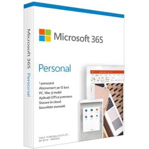 Microsoft 365 Personal, Engleza, Subscriptie 1 an, 1 PC/Mac, 1 Tableta, 1 Telefon, Windows, MacOS, iOS, Android
