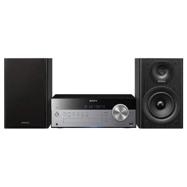 Microsistem audio SONY CMT-SBT100, 50W, Bluetooth, NFC, USB, CD, ngru-argintiu