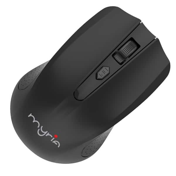 Mouse Wireless MYRIA MY8507, 1600 dpi, negru
