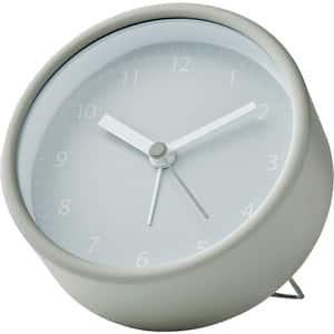 Ceas desteptator analogic de birou NEDIS CLDK006GR, 12 ficre, fundal alb, verde