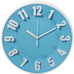 Ceas de perete NEDIS  CLWA012PC30BU, 12 cifre, diametru 30 cm, albastru