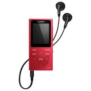 MP4 player SONY Walkman  NW-E393R, 4GB, FM, rosu